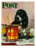 """Butch & Paint Cans,"" Saturday Evening Post Cover, October 29, 1949 Giclee Print by Albert Staehle"