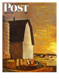 """Dairy Farm,"" Saturday Evening Post Cover, July 19, 1947 Giclee Print by John Atherton"