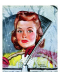 """Rainy Drive,"" December 7, 1940 Giclee Print by Emery Clarke"