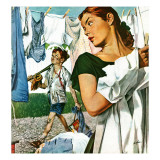 """More Clothes to Clean,"" April 17, 1948 Giclee Print by George Hughes"