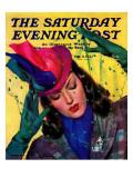"""Cat Pin,"" Saturday Evening Post Cover, October 11, 1941 Giclee Print by John LaGatta"