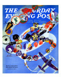 """Squadron Insignia,"" Saturday Evening Post Cover, August 23, 1941 Giclee Print by Ski Weld"