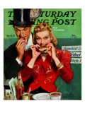 &quot;Late Night Snack,&quot; Saturday Evening Post Cover, March 22, 1941 Giclee Print by John LaGatta