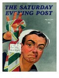 """Ugly Tie,"" Saturday Evening Post Cover, May 23, 1942 Giclee Print by Charles Kaiser"