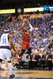 Miami Heat v Dallas Mavericks - Game Three, Dallas, TX -June 5: Dwyane Wade and Jason Terry Photographic Print by Garrett Ellwood