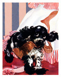 """Butch and the Nylons,"" February 15, 1947 Giclee Print by Albert Staehle"