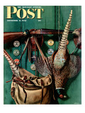 """Hunting still life,"" Saturday Evening Post Cover, November 11, 1944 Giclee Print by John Atherton"
