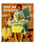 """Jack And The Beanstalk,"" Saturday Evening Post Cover, February 3, 1940 Giclee Print by John Hyde Phillips"