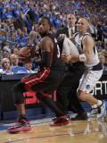 Miami Heat v Dallas Mavericks - Game Five, Dallas, TX -June 9: Dwyane Wade and Jason Kidd Photographic Print by Glenn James
