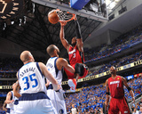Miami Heat v Dallas Mavericks - Game Four, Dallas, TX -June 7: Tyson Chandler and Dwyane Wade Photo by Jesse D. Garrabrant