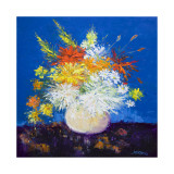 Big Blooms White Vase Limited Edition by John Lowrie Morrison