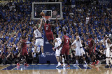 Miami Heat v Dallas Mavericks - Game Four, Dallas, TX -June 7: LeBron James and Jason Kidd Photographic Print by Glenn James