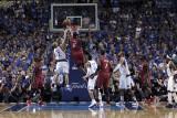 Miami Heat v Dallas Mavericks - Game Four, Dallas, TX -June 7: LeBron James and Jason Kidd Photographic Print by Glenn James
