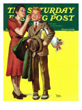 """First Date,"" Saturday Evening Post Cover, February 15, 1941 Giclee Print by Frances Tipton Hunter"