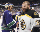Boston Bruins - Tim Thomas &amp; Roberto Luongo Photo