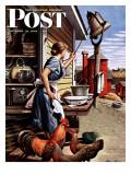 """Dinner Bell,"" Saturday Evening Post Cover, October 21, 1944 ジクレープリント : スティーブン・ドハノス"