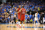 Miami Heat v Dallas Mavericks - Game Three, Dallas, TX -June 5: Mario Chalmers and Udonis Haslem Photographic Print by Garrett Ellwood