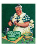"""St. Paddy Cake for Policemen,"" March 16, 1940 Giclee Print by Albert W. Hampson"