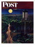 """Lovers' Lane, Falls City, Nebraska,"" Saturday Evening Post Cover, May 24, 1947 Giclée-Druck von John Falter"