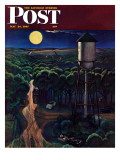 """Lovers' Lane, Falls City, Nebraska,"" Saturday Evening Post Cover, May 24, 1947 Giclee Print by John Falter"