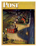 """School's Out,"" Saturday Evening Post Cover, June 9, 1945 Giclee Print by John Falter"