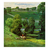 """Green Kentucky Pastures,"" July 29, 1961 Giclee Print by John Clymer"