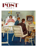 """Baseball in the Hospital,"" Saturday Evening Post Cover, April 29, 1961 Giclee Print by Amos Sewell"