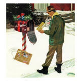 """Merry Christmas from the IRS,"" December 17, 1960 Giclee Print by Ben Kimberly Prins"