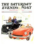 """New & Old,"" Saturday Evening Post Cover, September 1, 1971 Giclee Print by George Hughes"