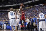 Miami Heat v Dallas Mavericks - Game Four, Dallas, TX -June 7: Dwyane Wade and Jason Kidd Photographic Print by Glenn James