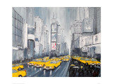 Rainy Day New York Giclee Print by Geoff King