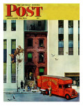 &quot;Moving day,&quot; Saturday Evening Post Cover, September 30, 1944 Reproduction proc&#233;d&#233; gicl&#233;e par John Falter
