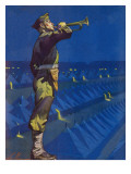 """Bootcamp Reveille,"" August 2, 1941 Giclee Print by Ski Weld"
