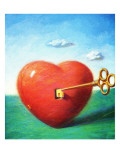 """Heart,"" Sept/Oct 97 Giclee Print by Allen Grans"
