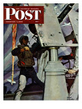 """Anti-Aircraft,"" Saturday Evening Post Cover, February 5, 1944 Giclee Print by Mead Schaeffer"