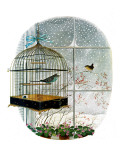 &quot;Birdtalk,&quot; January 6, 1962 Giclee Print by Gyo Fujikawa