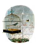 """""""Birdtalk,"""" January 6, 1962 Giclee-vedos tekijänä Gyo Fujikawa"""
