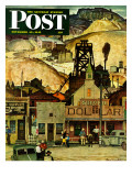 """The Silver Dollar,"" Saturday Evening Post Cover, November 10, 1945 Gicleetryck av Mead Schaeffer"