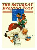"""Santa and the Robot,"" Saturday Evening Post Cover, December 1, 1983 Giclee Print by Scott Gustafson"