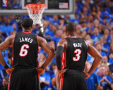 Miami Heat v Dallas Mavericks - Game Five, Dallas, TX -June 9: LeBron James and Dwyane Wade Photo by Jesse D. Garrabrant