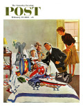 """Housecall,"" Saturday Evening Post Cover, February 27, 1960 Giclee Print by George Hughes"