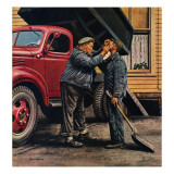 """Speck of Coal,"" October 18, 1947 Giclee Print by Stevan Dohanos"