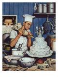 """""""Icing the Wedding Cake,"""" June 16, 1945 Giclée-Druck von Stevan Dohanos"""
