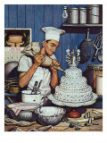 """Icing the Wedding Cake,"" June 16, 1945 Giclee Print by Stevan Dohanos"