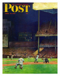 &quot;Yankee Stadium,&quot; Saturday Evening Post Cover, April 19, 1947 Reproduction proc&#233;d&#233; gicl&#233;e par John Falter