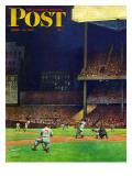 """""""Yankee Stadium """" Saturday Evening Post Cover  April 19  1947"""