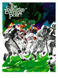 """Inside Pro Football,"" Saturday Evening Post Cover, September 21, 1968 Giclee Print by Paul Calle"