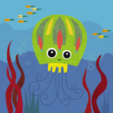 Ocean Friends, Jenny Affiches par Jenn Ski