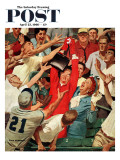 """Grandma Catches Fly-ball,"" Saturday Evening Post Cover, April 23, 1960 Giclee Print by Richard Sargent"