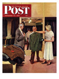 """Choosing a New Suit,"" Saturday Evening Post Cover, November 20, 1948 Giclee Print by John Falter"